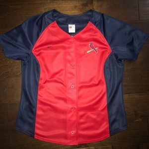 NIKE Cardinals baseball red & navy blue jersey
